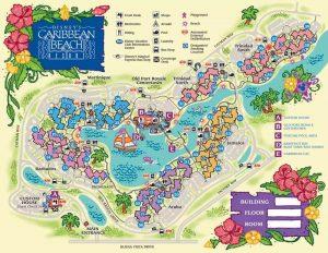 Caribbean Beach Resort map