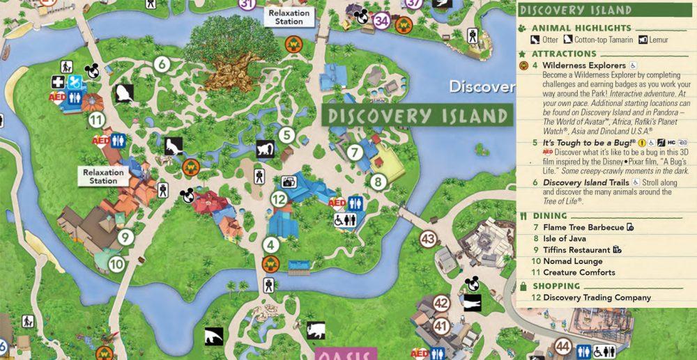 Mapa Discovery Island
